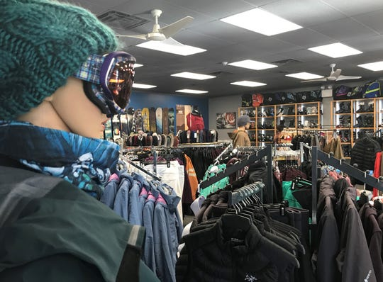 A mannequin overlooks the newly revived Danzeisen & Quigley winter-sports store in Cherry Hill.