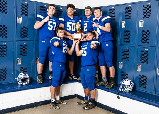 Under the leadership of Nathan Howard, Alan Mead, Tanner Chenault, Dalton Thurston, Lane Ruby, and Mike Nusser the Southeastern football team goes into post season with the accomplishment of being 10-0 in the SVC and received the honor of the SVC gold ball.