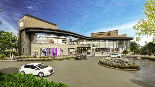 A ground-level illustration of the Playhouse in the Park's new complex, scheduled to open in the fall of 2022.