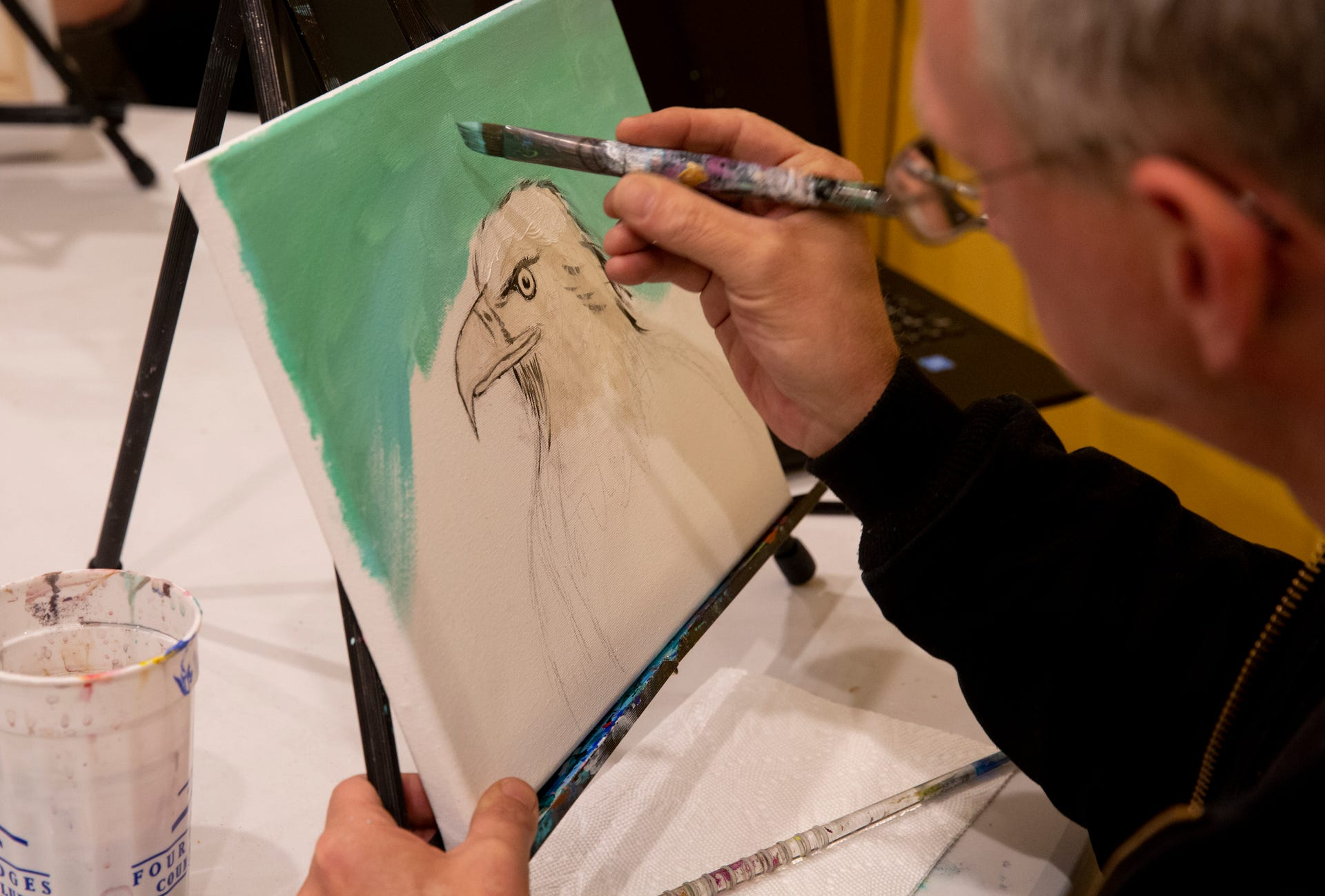 Veterans Fighting Addiction Become Artists For An Hour