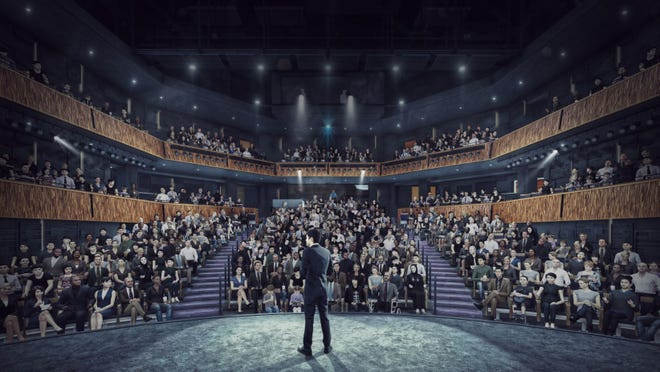 Here's what the view is likely to be for actors performing on the stage of the Playhouse in the Park's new mainstage theater, scheduled to open in the fall of 2022.