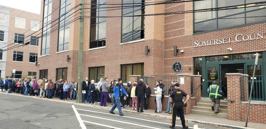 The wait for free Hepatitis A shots was more than an hour at the Somerset County Department of Health.