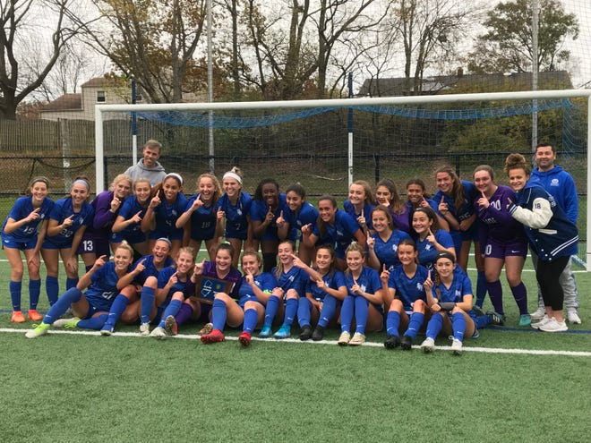 The No. 2 Scotch Plains-Fanwood girls soccer team won the NJSIAA North 2 Group IV sectional title with a 2-0 victory over No. 4 Bridgewater-Raritan on Thursday, Nov. 7, 2019.