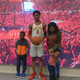Darlinstone Dubar poses with his family during his official visit to Iowa State.