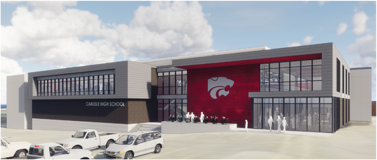 The new Carlisle Indoor Activities Center will open Nov. 18. The center is attached to the high school and costs more than $12 million.