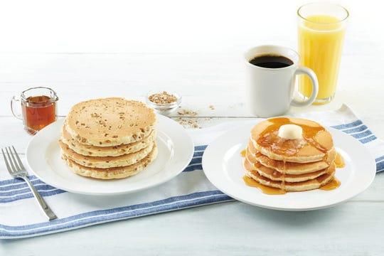 Bob Evans Multi-grain and regular pancakes