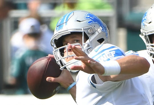 "Lions quarterback Matthew Stafford is dealing with a back injury, but he says he'll be ""good to go"" for Sunday's game against the Bears."