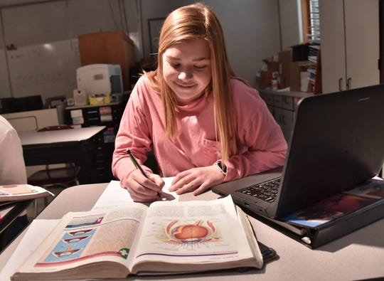 """""""We get a good education here,"""" said Allyssa Miller, one of 12 seniors in her class at DeTour High School. """"I spend about two hours a day on the bus, but we know nothing else. It's a good way of life."""""""