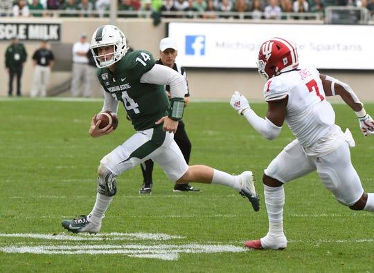 Quarterback Brian Lewerke and Michigan State square off against Illinois on Saturday at Spartan Stadium.