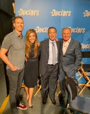 From left, Travis Stork, Judy Ho, Joel Kahn, and Andrew Ordon on The Doctors TV show.