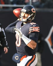 Bears quarterback Mitchell Trubisky threw for a career-high 355 yards in a game last season against the Lions.