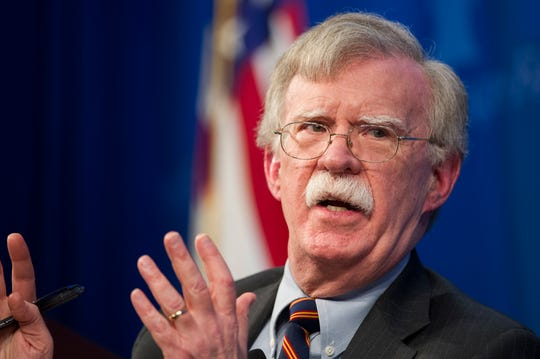 In this Dec. 13, 2018 file photo, National Security Advisor John Bolton speaks at the Heritage Foundation in Washington.