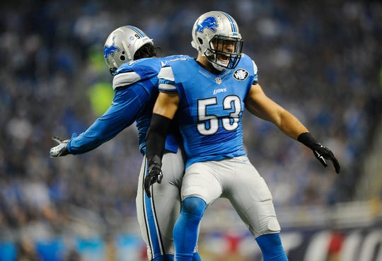 Linebacker Kyle Van Noy (53) spent three seasons in Detroit before flourishing in New England.