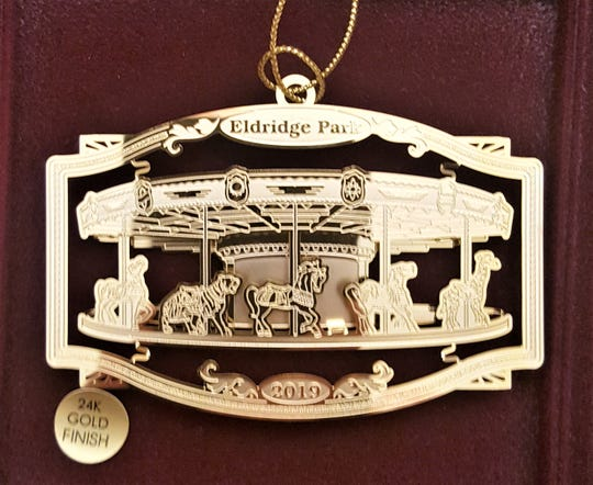 The Eldridge Park Carousel Preservation Society is selling this Christmas ornament this season.