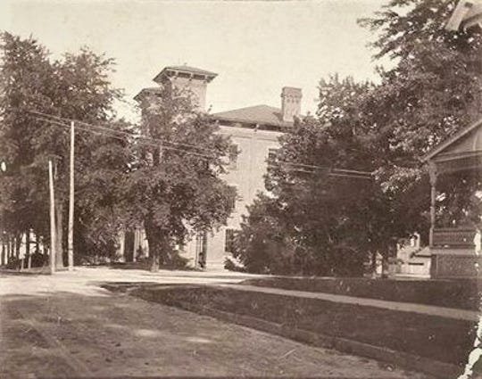 This is a rare photo of the old Union School, probably taken before 1900.