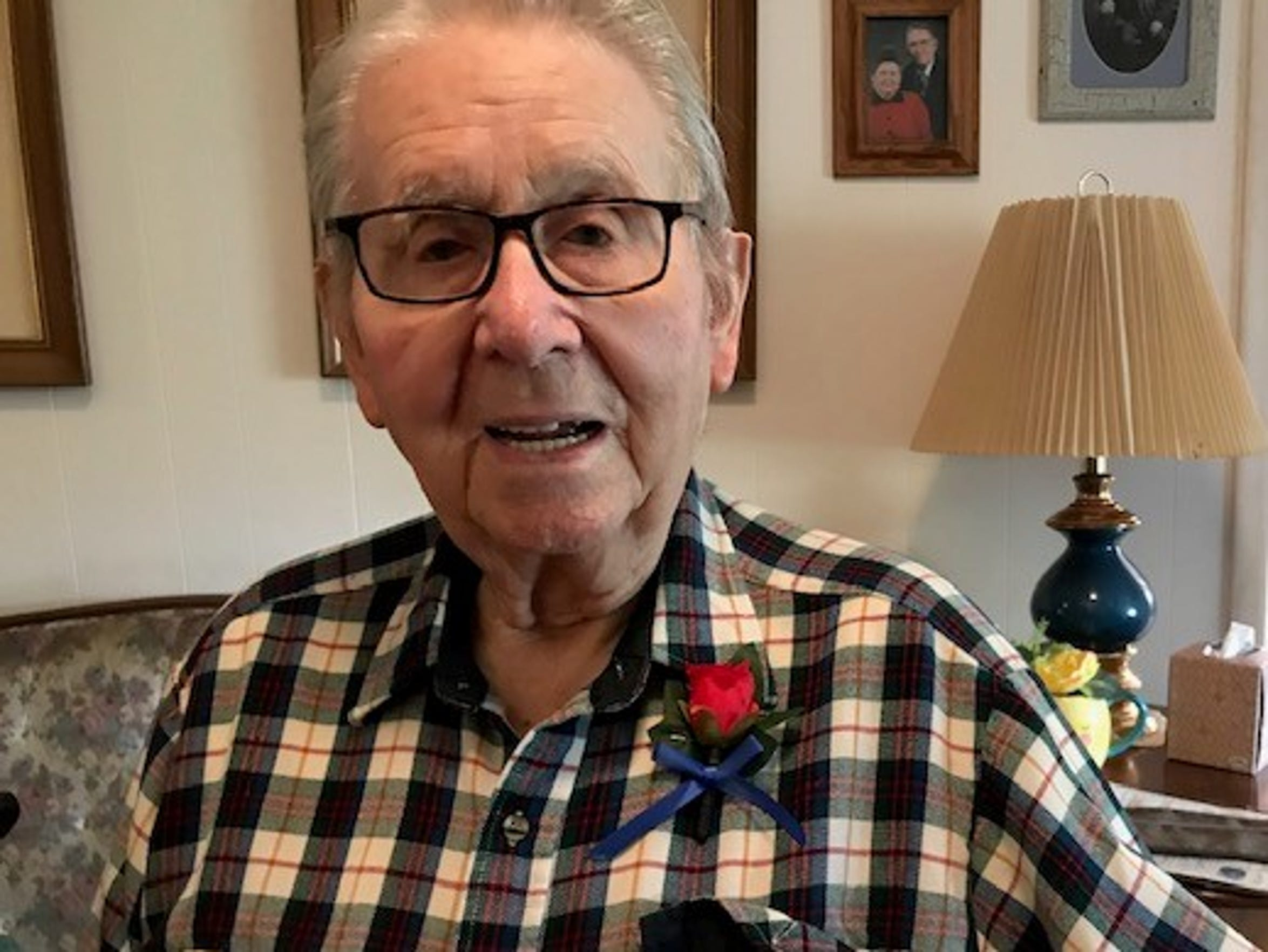Calvin Haar, 95, of Elmore served as a paratrooper in the U.S. Army during World War II. He is one of the last remaining World War II veterans still alive in Ottawa County.