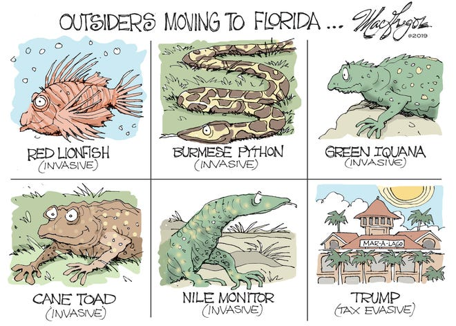 Outsiders moving to Florida.
