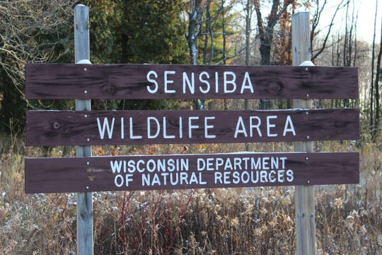 A sign at the entrance to the Sensiba Wildlife Area in Suamico.