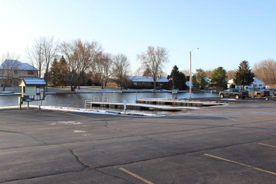The Suamico Boat Launch in Suamico. The family of Neil LaFave is seeking to rename the boat launch in honor of LaFave, who was killed in 1971 in the nearby Sensiba Wildlife area.
