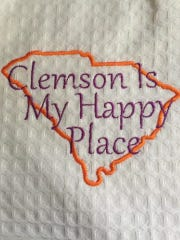 One of Angie Grice's many Clemson decorations