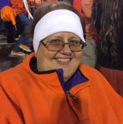Angie Grice at a Clemson game