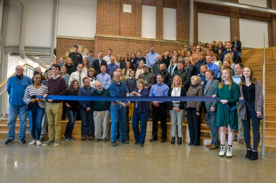Ribbon cutting ceremony for the Hub, Great Falls High's new building addition connecting the main building to south campus, Wednesday afternoon, November 6, 2019.