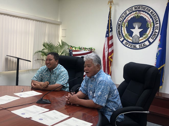 Commonwealth of the Northern Mariana Islands Gov. Ralph Torres and Lt. Gov. Arnold Palacios