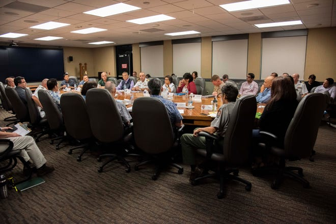 The Civil-Military Coordination Councilmet for the first timein a year to discuss buildup-related issues. The council is composed of representatives from the Government of Guam, Joint Region Marianas and other federal agencies, and met on Nov. 6 at the Joint Region Marianas headquarters.
