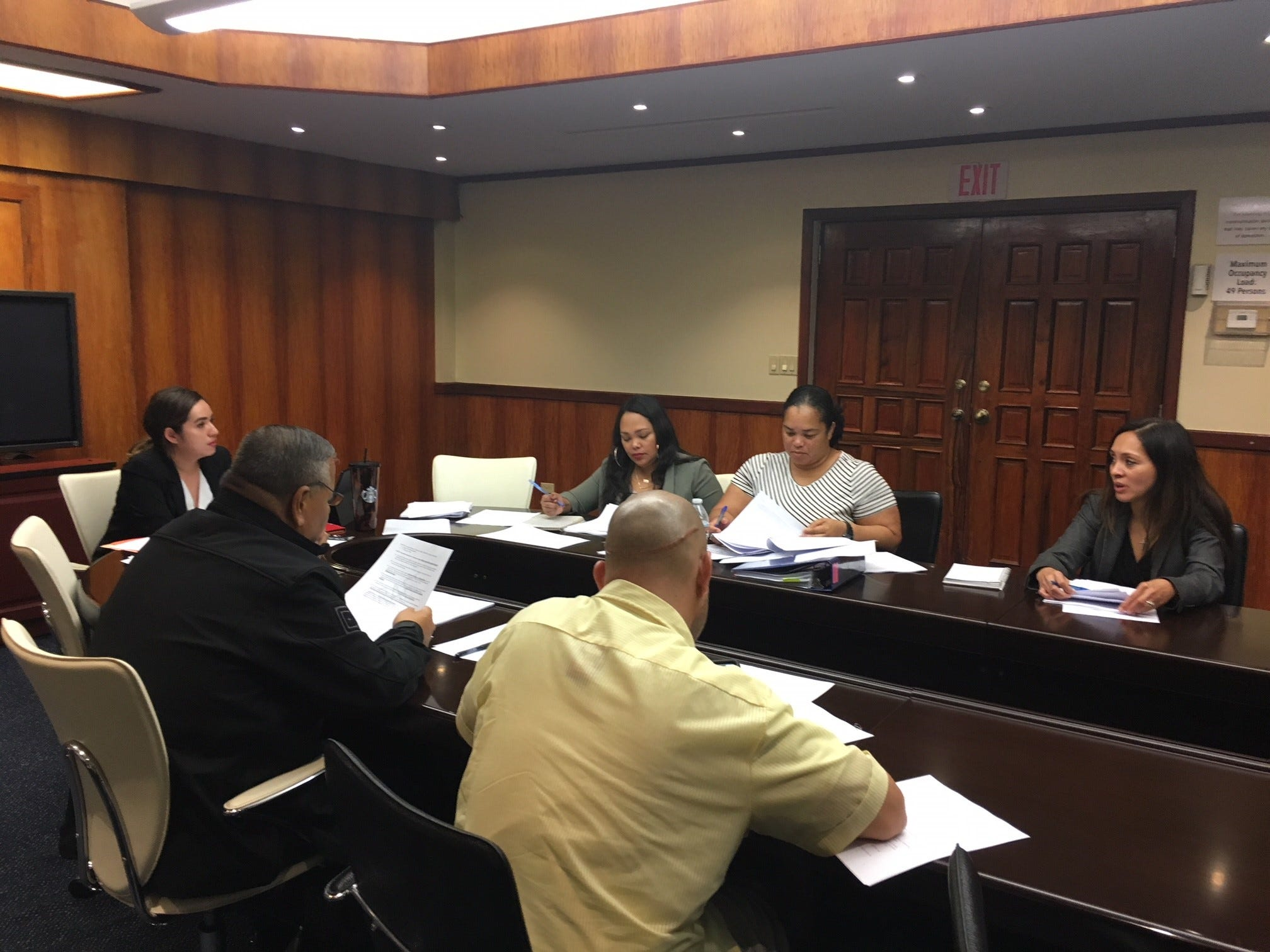 Cannabis Control Board members meet Nov. 5, 2020, at Adelup.