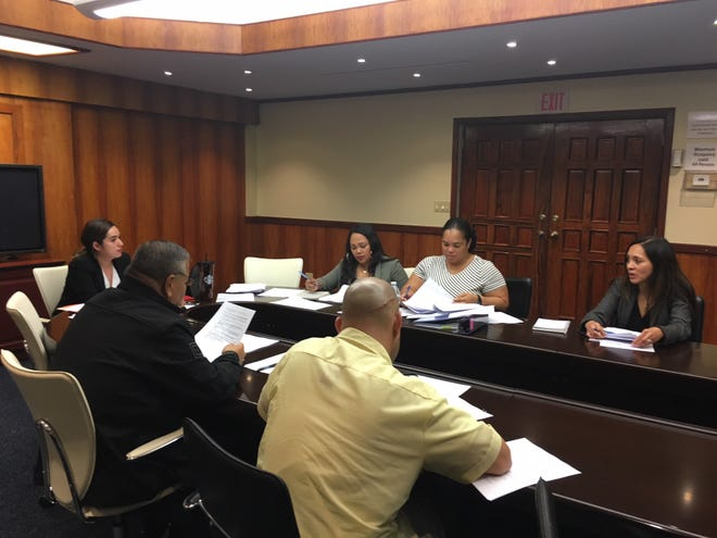 Cannabis Control Board members meet Nov. 5 at Adelup.