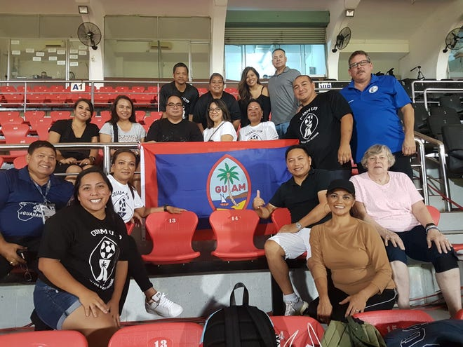 Traveling soccer parents of Guam's U19 National Team before Guam's game against Japan Nov. 6 in Vietnam. Guam is competing in Pool J of the 2019 AFC U19 Championship Qualifier.