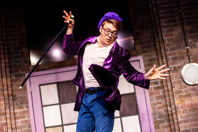 """Andrew Bolduc, a member of The Second City Touring Co., performs in a sketch that will appear in a comedy show at the Preston Arts Center on Friday, Nov. 15. Reluctant to reveal too much, Bolduc would say only that he will portray """"a very eccentric character."""""""