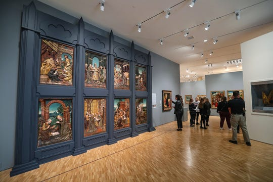 The medieval to 1900 European and American art gallery at the renovated Eskenazi Museum of Art at Indiana University in Bloomington, Ind., seen on Monday, Nov. 4, 2019. The $30 million renovation is the first since the I.M. Pei-designed museum was constructed in 1982.