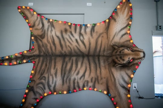 The tiger was first a prop for an Indianapolis Opera production.