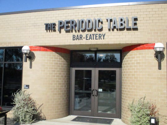 The exterior of The Periodic Table, Hotel Grinnell's restaurant, on Wednesday, Nov. 6, 2019.