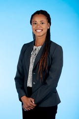 Knox.biz 40 Under 40 nominee Allyson Foster Boyd, Transportation Engineer at CDM Smith, Inc., poses for a photo in the Knox News photo studio in Knoxville, Tenn. on Wednesday, Nov. 6, 2019.