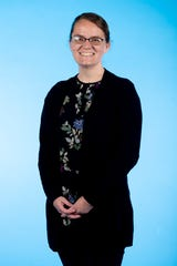 Knox.biz 40 Under 40 nominee Catherine Schuman, Research Scientist at Oak Ridge National Laboratory, poses for a photo in the Knox News photo studio in Knoxville, Tenn. on Tuesday, Nov. 5, 2019.