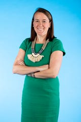 Knox.biz 40 Under 40 nominee Liz Sherrod, Assistant General Counsel at the University of Tennessee Medical Center, poses for a photo in the Knox News photo studio in Knoxville, Tenn. on Tuesday, Nov. 5, 2019.