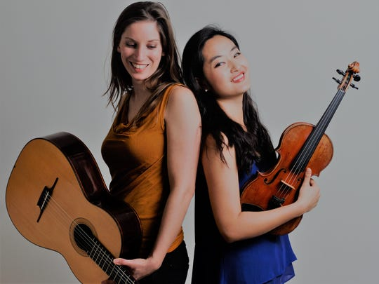 "German guitarist/multi-instrumentalist Ines Thomé and Korean violinist YuEun Kim are ""Yu & I."" They'll be in concert at the Episcopal Church of the Good Samaritan this Saturday, Nov. 16, at 7 p.m. Jan. 15, 2016."