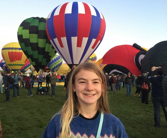 Leilani Johns headed west with her parents to the Balloon Festival in Albuquerque, New Mexico in September.