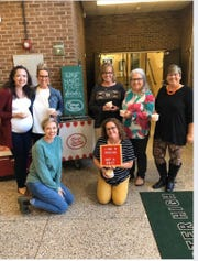 Most of the people in this photo are Carter High grads. Shown l-r, rear, are Colleen Cruze Bhatti, class of 2005; Kristie Dunlap, CHS secretary; Pam Clift, class of 1977 and CHS counseling office; Glenda Stout, class of 1983 and CHS front office staff; Tina Eastridge, class of 1984 and CHS bookkeeper. In front are Frances Cruze Vineyard, class of 1999, and principal Angie Messer. Oct. 17, 2019.