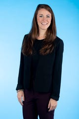 Knox.biz 40 Under 40 nominee Kat Hoskins, General Manager of Courtyard Knoxville West/Bearden, poses for a photo in the Knox News photo studio in Knoxville, Tenn. on Tuesday, Nov. 5, 2019.