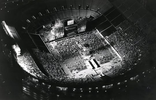"Neyland Stadium begins to fill up with fans for the Jacksons' ""Victory"" tour Aug. 11, 1984."