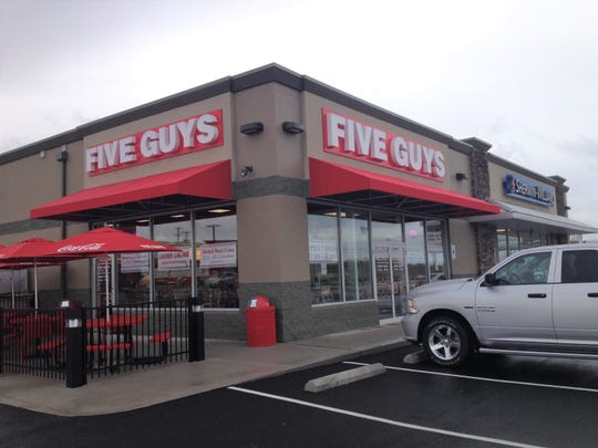 This is the Five Guys Burgers and Fries location at 1854 N. Memorial Drive as show in this Eagle-Gazette file photo.