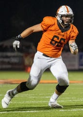 Senior tackle Nate Hoffman leads a Brighton offensive line that will be tested by East Kentwood's talented defensive line in a state playoff football game Friday night.