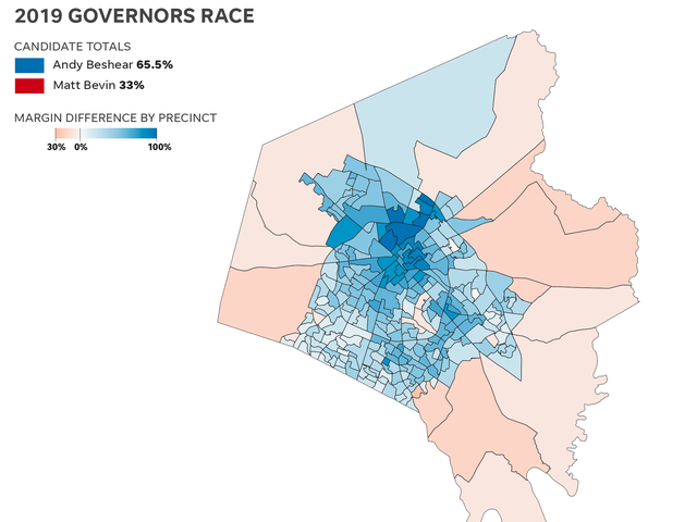 Kentucky election results 2019 by county: Maps show Bevin vs ...