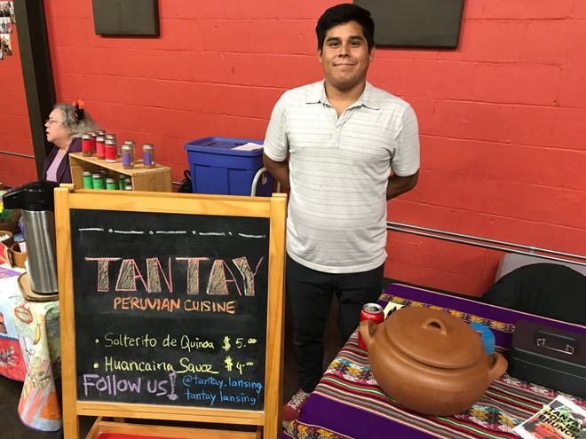 Jose Aste at his Peruvian pop-up food stand called Tantay at Allen Neighborhood Center on Oct. 30, 2019.