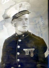 Howard R.M. Halderson in his Marine Corps dress uniform.
