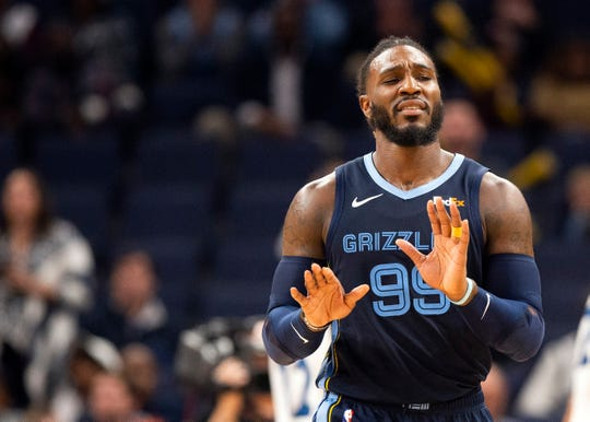 Memphis Grizzlies forward Jae Crowder (99) during a game against the  Minnesota Timberwolves at the FedExForum on Wednesday Nov. 6, 2019.