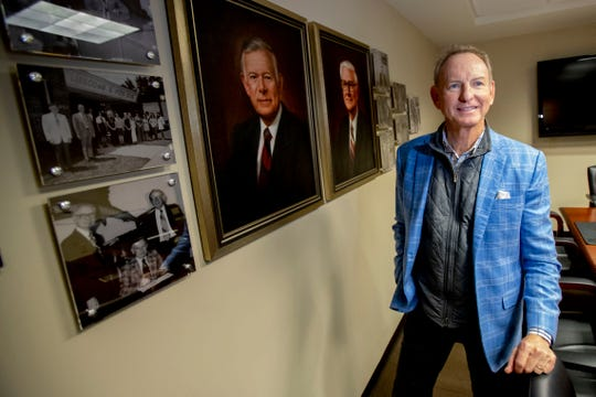 Johnny Pitts serves as co-CEO of Lipscomb and Pitts insurance. Pitts' father cofounded the company in 1954. Photographed Thursday, Nov. 7, 2019, in the Founders Room at Lipscomb and Pitts Insurance Company in Memphis.